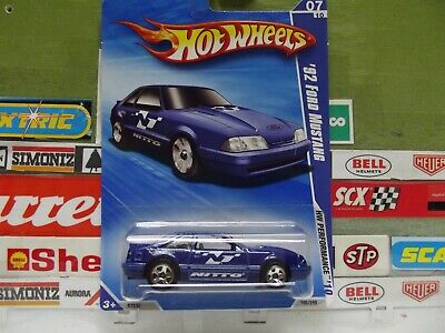 HOT WHEELS 1:64 BLUE '92 FORD MUSTANG 07/10, 105/240, R7530. (14)