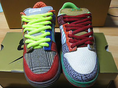 Nike dunk SB  WHAT THE DUNK Sz 9