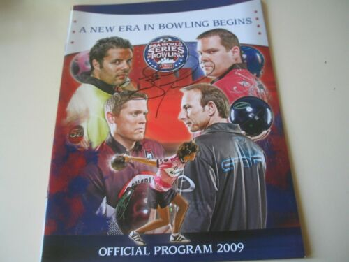 JASON BELMONTE PBA Bowler 2009 Autographed World Series of Bowling Program