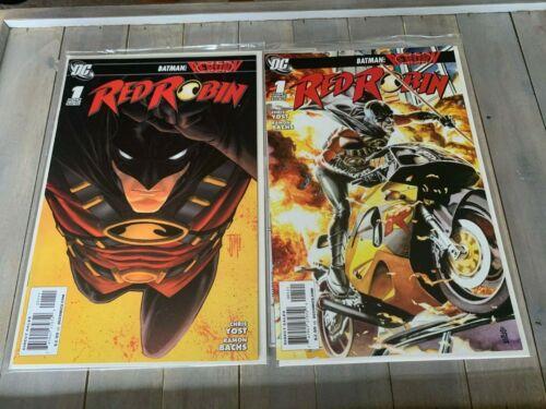 Red Robin #1 Variant DC JG Jones 1:25 NM 2 Comic Lot 1st Print DC Comics KEY