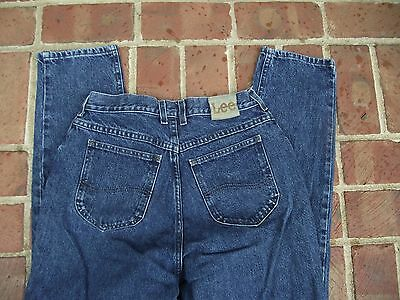 12 womens Jeans Lee dark denim 5 pocket 6 belt loops EUC 31