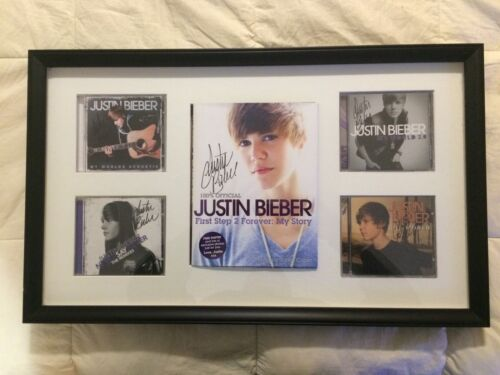 Justin Bieber Signed Autographed Book and Four CD