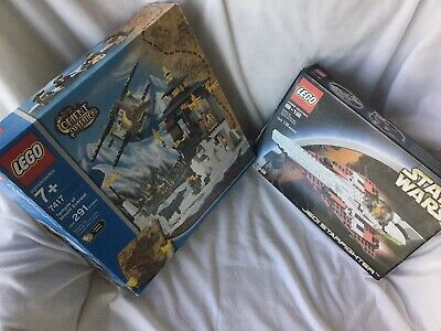 Lot Of 2 Lego Boxes Empty 7417 Orient Expedition And 7143 Jedi Starfighter