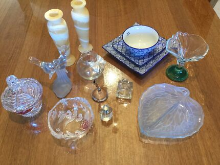 Crystal, porcelain, Egyptian Alabaster, glass collection