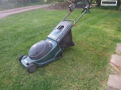atco regent electric lawn mower with roller