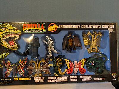 Godzilla Trendmasters 40th Anniversar;y Set- Rare and Minty