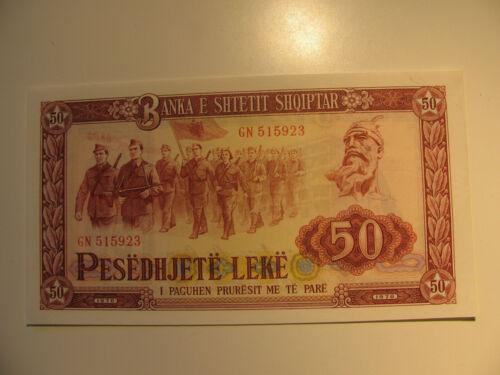Uncirculated 1976 Albania 50 Leke Note