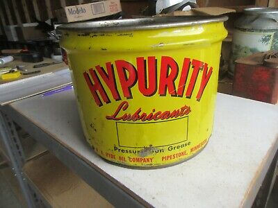 Vintage Hypurity Grease Oil Can 25 lbs Size Only 1 on eBay Lot 20-60-CH