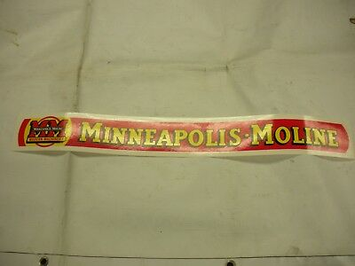 Minneapolis Moline Tractor Decal 2 14 X 25 - New Free Shipping
