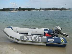 3.4 m Zodiac C340S inflatable dinghy with 8 hp four stroke Honda Brisbane City Brisbane North West Preview