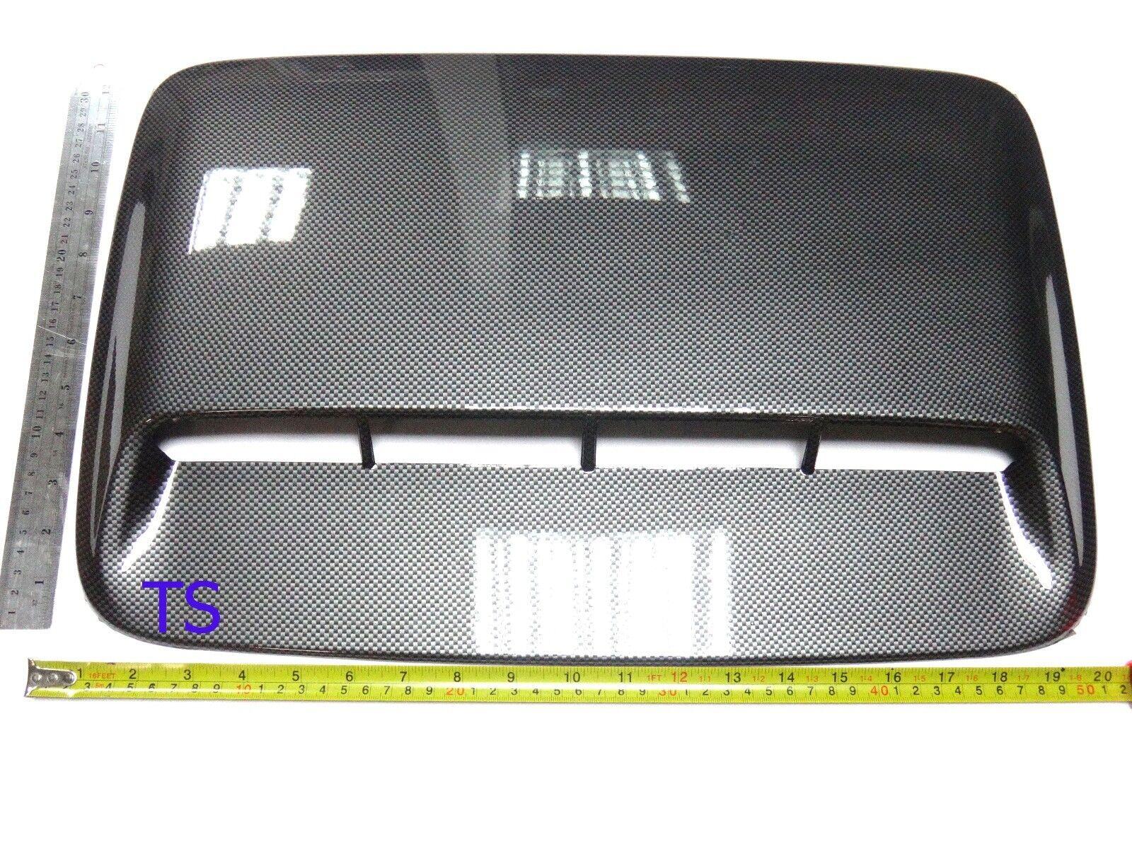 BLACK Carbon SCOOP TURBO FAKE COVER FOR TOYOTA HILUX VIGO CHAMP SR5 2011-2015