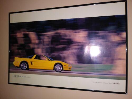1998 Acura NSX dealership showroom advertising poster