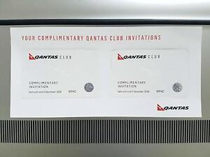 2 x Qantas Club Passes | Dec 2018 Expiry | Business Lounge Pass Hamilton Brisbane North East Preview