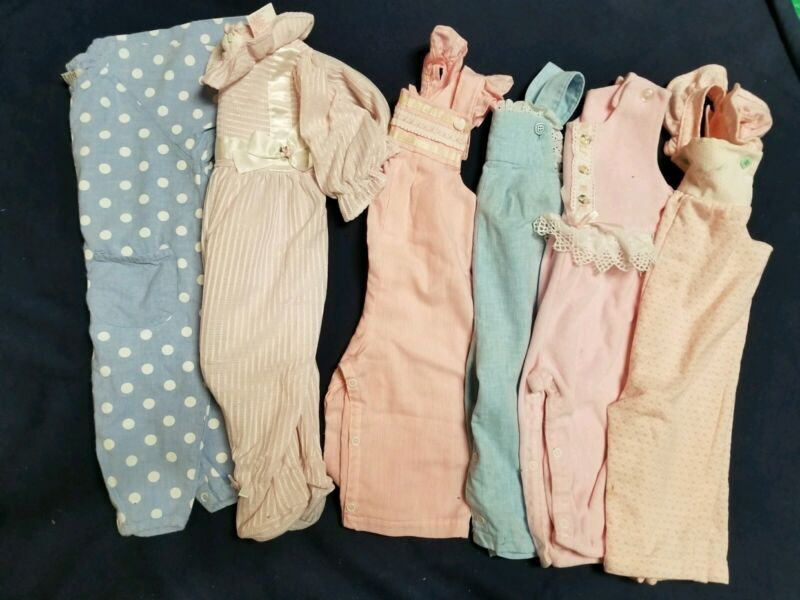 Vintage Lot Baby Girls Rompers Size 12 Months Blue Pink Health-tex