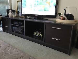 Low line tv media unit entertainment cabinet brown Harvey Norman Moonee Ponds Moonee Valley Preview