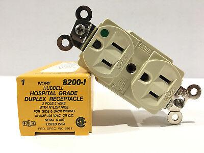 HBL8200I Hospital Grade Duplex Receptacle, 15A 125V, 5-15R, Hubbell (Hubbell Duplex Receptacle)