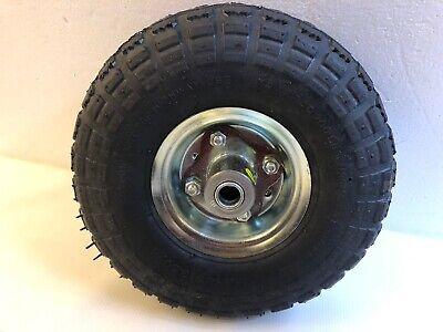 Ironton 10in Pneumatic Wheel Tire 300 Lb Capacity Knobby Tread 2 Ply 4.10 3.50 4