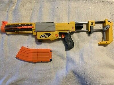 Nerf N-Strike Elite Recon CS-6 Blaster Rifle With Banana Clip Darts Stock Works