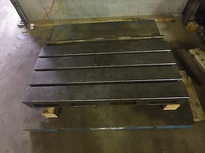 39-14 X 22 X 5.5 Steel Welding 3 T-slotted Table Cast Iron Layout Plate Jig