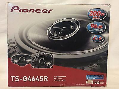 "NEW Pioneer TS-G4645R 200 Watts 4"" x 6"" 2-Way Coaxial Car Audio Speakers 4x6"""