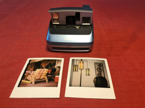 Blue Polaroid One600 Instant Camera. Film Tested! Working Great! 600 #9