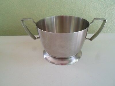 Modernist Stainless Steel OLD HALL  Sugar Bowl  - Retro Tableware