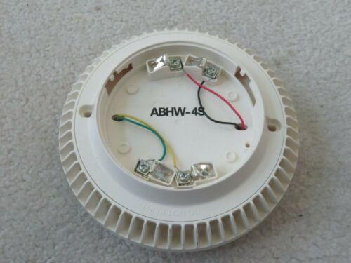 Siemens ABHW-4S Fire Alarm Smoke Detector Audible Sounder Base S54320-F14-A1