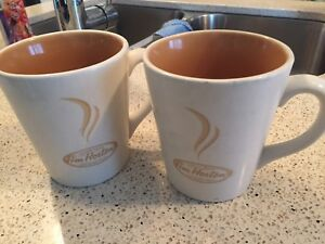 Pair of #6 Tim Hortons mugs