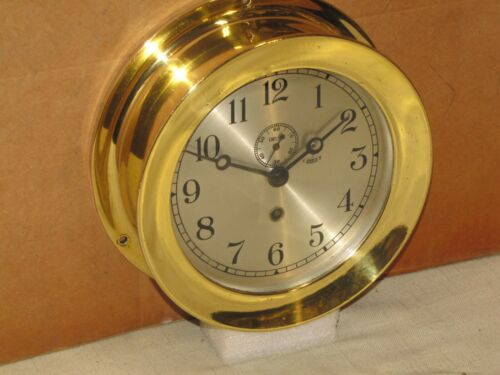 CHELSEA ANTIQUE SHIPS CLOCK~6 IN~1905~U.S.C.&G.S. NO.6~115 YEARS OLD!
