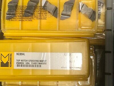 Kennametal Ng3094l Kc5025 Top Notch Grooving Insert 2599524 New Pack Of 5