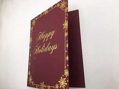 5 GEOGRAPHICS GOLD FOIL CHRISTMAS HOLIDAY  MENU HOLDERS. RESTAURANT. PARTY. BAR