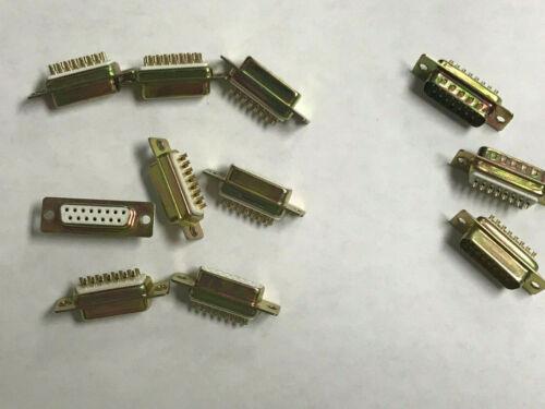 Lot of 11 15 Pin D-Sub Connector Solder Cup DE15
