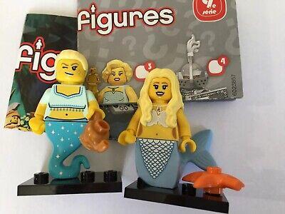 LEGO Minifig LOT Series 9 12 Mermaid GENIE GIRL LADY SEA STARFISH FANTASY CMF