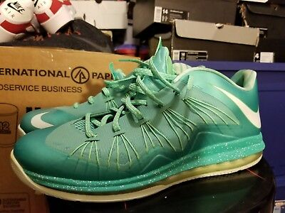 super popular 81ea8 0cd84 Nike Air Max LeBron 10 X Low Easter Crystal Mint Green 579765-300 Men s Size  14