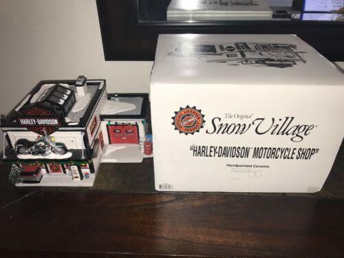 DEPARTMENT 56 SNOW VILLAGE HARLEY-DAVIDSON MOTORCYCLE SHOP - 1996 #54886