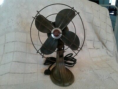 """Antique VINTAGE SMALL12"""" AIR STREAM ELECTRIC FAN P2338 NEEDS RESTORING"""