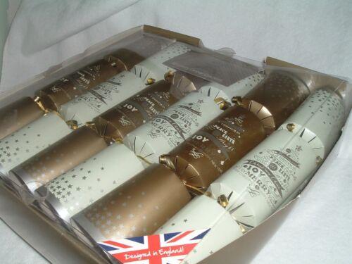"British Cracker Co Luxury Dinner Christmas Crackers NEW Festive 12"" Set of 12"