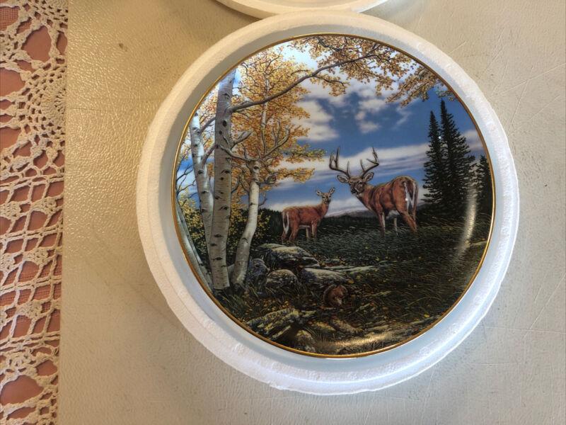 Danbury Mint.Wilderness Reflections WOODLAND MEADOW . by John Van Straalen.