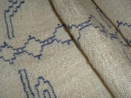 VINTAGE HAND  WOVEN Fabric 80cm x 175cm