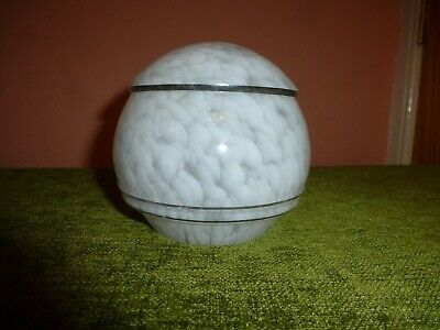 1 X FRENCH ART DECO WHITE MOTTLED GLASS SHADE