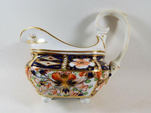 Antique English Derby Porcelain  Imari Sauce Gravy  Boat 19th Century
