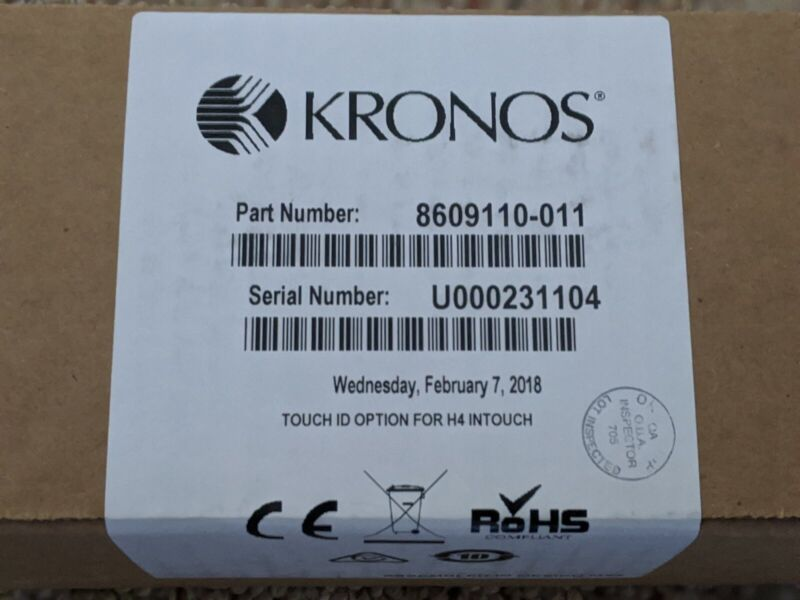 Kronos 8609110-011 Touch ID Biometric Fingerprint Scanner -NIB, Sealed