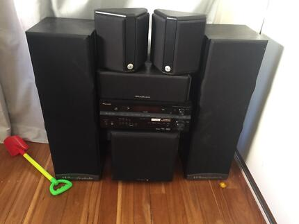 Wharfedale speakers and Pioneer multi channel receiver