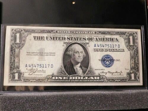 1935A $1 Silver Certificate Blue Seal Note Crisp Uncirculated, Combined Shipping