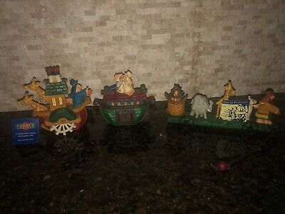 David Frykman Noah's Ark Collectible Three Piece Lot Figurines With Hang Tags ()