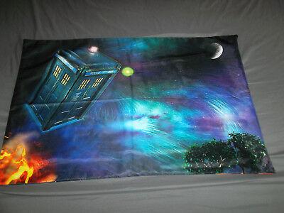 Unbranded Pillow Sham Dr Who Tardis Police Call Box Galaxy Tree Moon Zip Close Galaxy Standard Sham