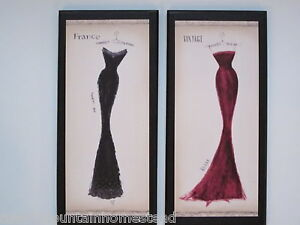 Milan Dresses Paris Couture Wall Decor Plaques French Ladies Bedroom Bathroom