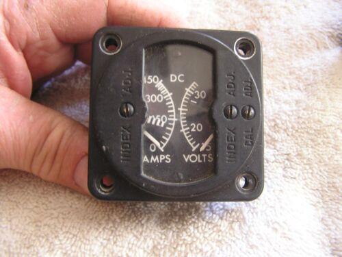 Vintage Instrument Panel Meter Aircraft Gauge Amps Volts