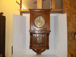 Antique German Vienna Regulator Wall Clock Made by Junghans working