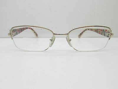 Prada Eyewear FRAMES 53-18-135 Gold Half Rimless Rectangle TV2 32507